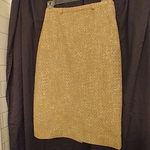 Vintage 50s Beverly Paige Cream Bouclé Wool Skirt